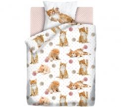 """КПБ 1.5 поплин """"4 YOU"""" Fun&Cute (70х70) рис. 16084-1/16085-1/8672-6 Cute kittens"""