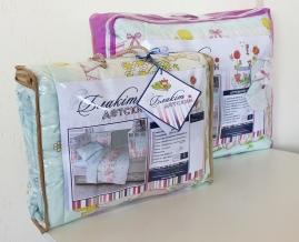 4261 Набор декоративный для детской кроватки Зорачка цвет бирюзовый