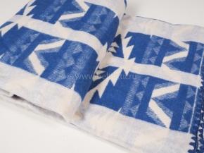 """Одеяло хлопковое 170*205 жаккард  3 """"Аляска"""" цв.синий"""