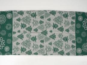 """17с356-ШР/у 56*124 полотенце """"Елки-1"""" цв. 2 зеленый"""