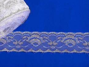 16С5-Г10-Л Кружево рис.1068 ш.40мм, белый/серебро (рул.50м)
