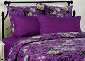 3809-БЧ Набор наволочек из 2-х шт.(с ушками) 70*70 цвет фиолетовый сатин