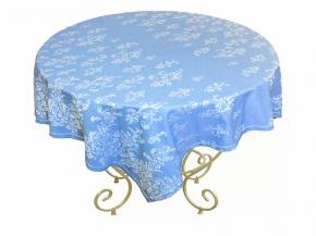 """Жаккардовая скатерть """"Гжель"""" 150*270 с мережкой цвет голубой 1128-540602-38"""