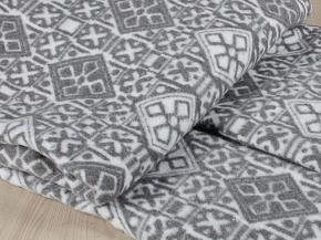 Одеяло байковое 200*205 жаккард цв. серый