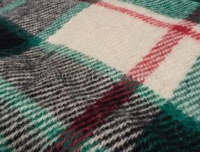 Плед 100% шерсть 170*200 цвет 31.2 зеленый
