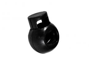 Фиксатор 1 отв. шар, черный (уп.500шт)