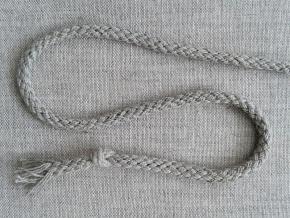 ШХ8-004-3 Шнур, D-4мм, х/б 100%, серый