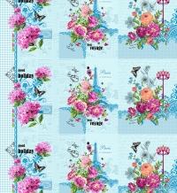 Вафельное полотно В16 рис.10868/1 Французские каникулы голубой, 150см