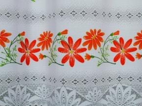 0.85м 08С6271-Г50 ПОЛОТНО ГАРДИННОЕ красный цветок