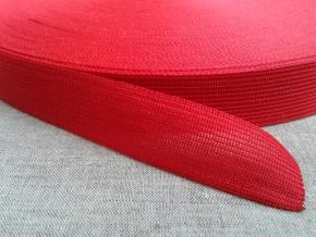 Тесьма вязан.окантовочная 22мм (2,4г/м), красный (рул.100м)