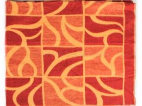 Одеяло п/шерсть 70% 170*205  жаккард  цв .терра с желтым