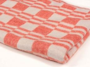 Одеяло хлопковое 100*140 клетка  цв.оранж.