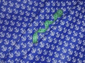 Бязь наб. плательная рис. 9176-1 Лилия королевская на синем, 150см