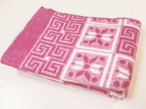 Одеяло п/шерсть 50% 140*205 жаккард цв.розовый