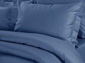 Сатин перопуховый гладкокрашеный арт.273 МАПС цв. 86013/7 синий, 220см