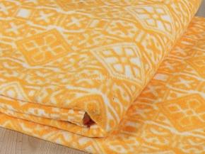 Одеяло байковое 200*205 жаккард цв. оранжевый