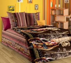 1130 КПБ 1.5 спальный Неон коричневый