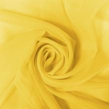"""Вуаль однотонная """"Шелли"""" MS 109/295 V лимонный желтый, ширина 295 см"""