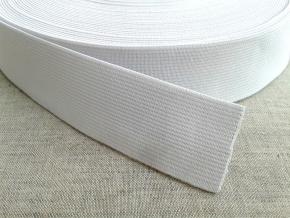 35мм. Резинка ткацкая 35мм, белая (рул.20м) арт.17с14