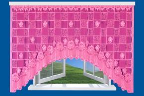 9с12-Г10 рис.2011 занавеска 160*300 цвет розовый