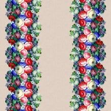 Рогожка набивная арт. 904 МАПС рис. 30066/1 Жостовская роспись, ширина 150 см