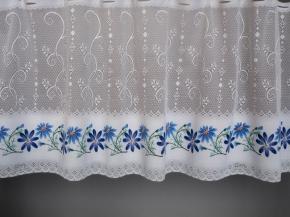 0.85м Е45П/85 08С6271-Г50 ПОЛОТНО ГАРДИННОЕ голубой цветок