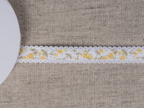 095000769 Лента декоративная шир.15мм, желтые цветы (уп.25ярдов/22,86м)