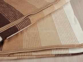 """Одеяло хлопковое-байковое в/уп  170*205 жаккард  """"Полоса"""" цв.корич."""