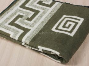 """Одеяло хлопковое в канте 140*205 жаккард """"Греция"""" цв. зеленый"""