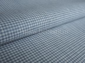 Ткань 1654ЯК п/лен пестротканый ХМ усадка 2/2 10,0 серо-голубой сорт 1, ширина 150см