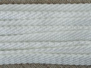Шнур плоский 10мм, белый (рул.100м)
