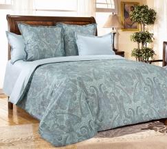 2308С КПБ 2х-спальный сатин Кашмир бирюза