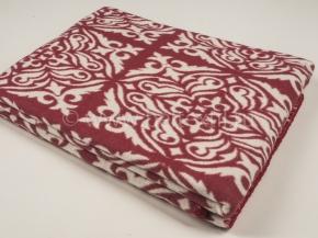 Одеяло хлопковое 140*205 жаккард 1/18 цвет красный