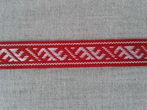 9291 ЛЕНТА ОТДЕЛОЧНАЯ белый с красным 13мм (рул.25м)