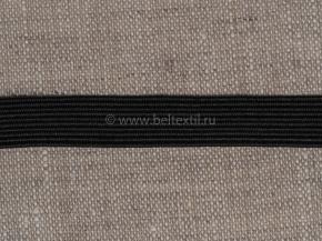 0,8см. Резинка ткацкая 8мм, черный (рул.100м) Тип F