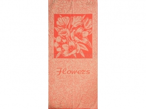 6с102.411ж1 Flowers Тюльпаны Полотенце махровое 67х150см