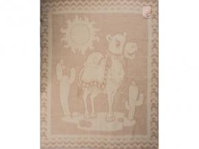 Одеяло п/шерсть 85% 100*140 жаккард цвет бежевый