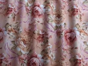Ткань блэкаут с печатью T RS 3910-02/280 P BL Pech, 280см