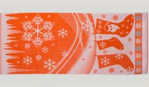 """6с102.411ж1 """"Новогодняя мозаика"""" Полотенце махровое 67х150см"""