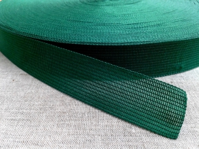 Тесьма вязан.окантовочная 22мм (2,4г/м), зеленый (рул.100м)