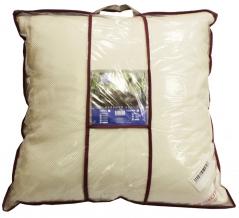 Подушка трикотаж лебяжий пух/ кант 60*60