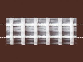 01С3017ПЭ-Г50 ЛЕНТА ДЛЯ ШТОР белый 30мм, параллельная сборка 1:2,3 (рул.50м)