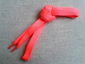 Шнурки L120см, ш.15мм, ярко-розовый