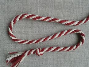 ШХ8-007-1/8 Шнур, D-7мм, х/б 100%, натуральный/малиновый