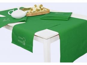 """16с183-ШР/в/уп.45*150 + 6 салф. 30*50 Комплект столовый """"Сладкая парочка"""" цв.зеленый"""