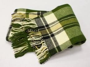 Плед п/шерсть 140*200 40/19 цвет зеленый