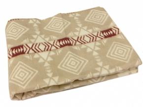Одеяло хлопковое 170*205 жаккард 11/1 цвет бежевый