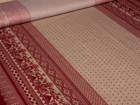 Ткань бельевая 17с-1ЯК п/л набивной Вышивка сударыня на сером, ширина 150см