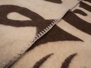 Одеяло п/шерсть 85% 140*205 жаккард  цв 1 коричневый