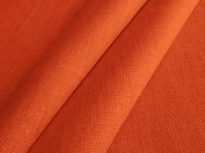 Ткань интерьерная 176099 п/лен гладкокрашеный рисунок 1284 Рябиновый ширина 150см